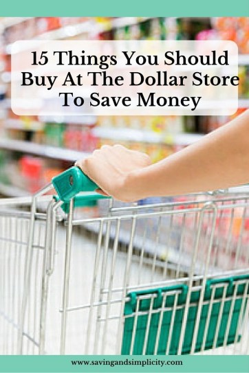 things to buy at the dollar store