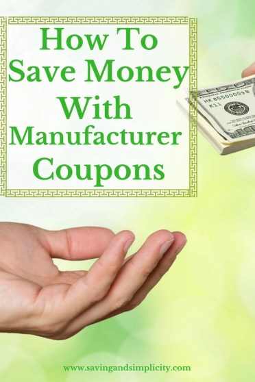 coupons manufactuer