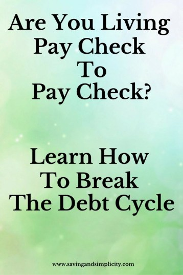 pay check to pay check
