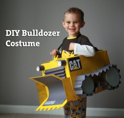 DIY Bulldozer costume