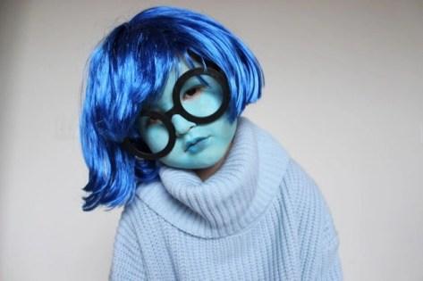 DIY Sadness Inside Out costume