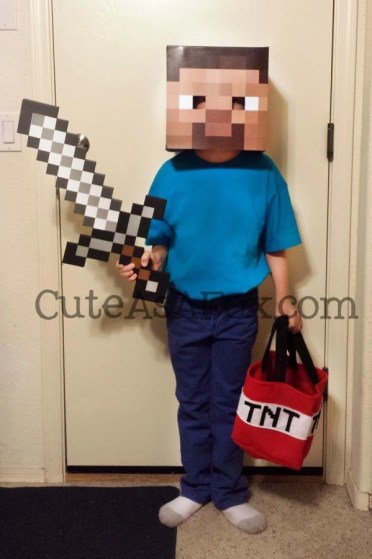 DIY minecraft costume
