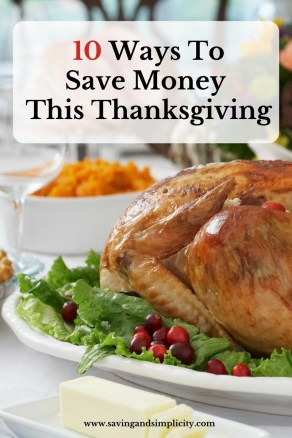 save money, Thanksgiving dinner