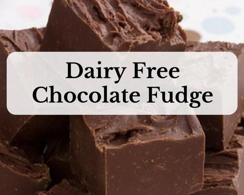 Dairy Free Chocolate Fudge