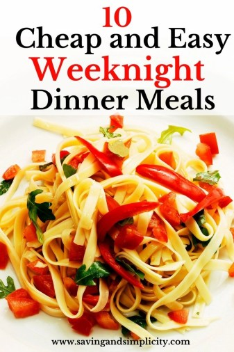 cheap and easy dinner ideas