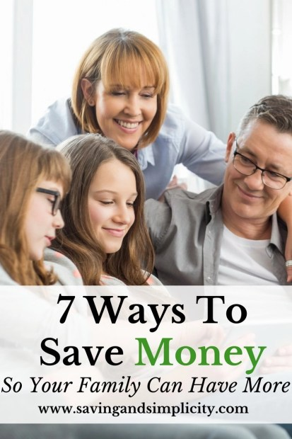 Wouldn't it be great to have extra money at the end of the month? What would you do if you had more money? Learn 7 ways to save money so you have more.