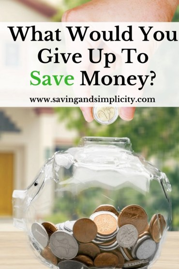 What would you give up to save money? Are your bills sending you to the poor house? Do you have too many expenses and stuff? Learn how to save money today.