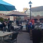 Durham RTP hotel patio
