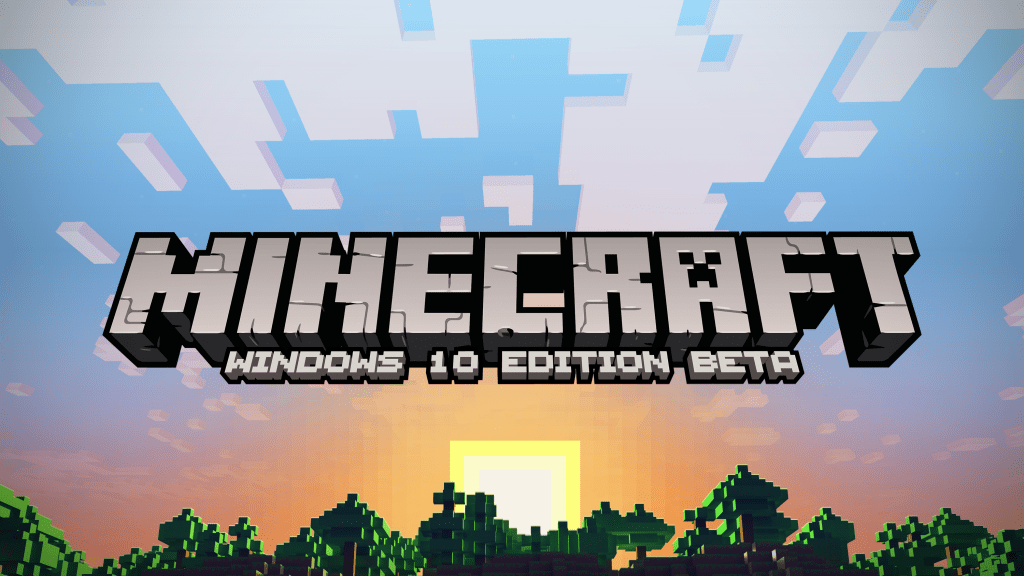 Minecraft Windows 10 Edition Beta Key Art