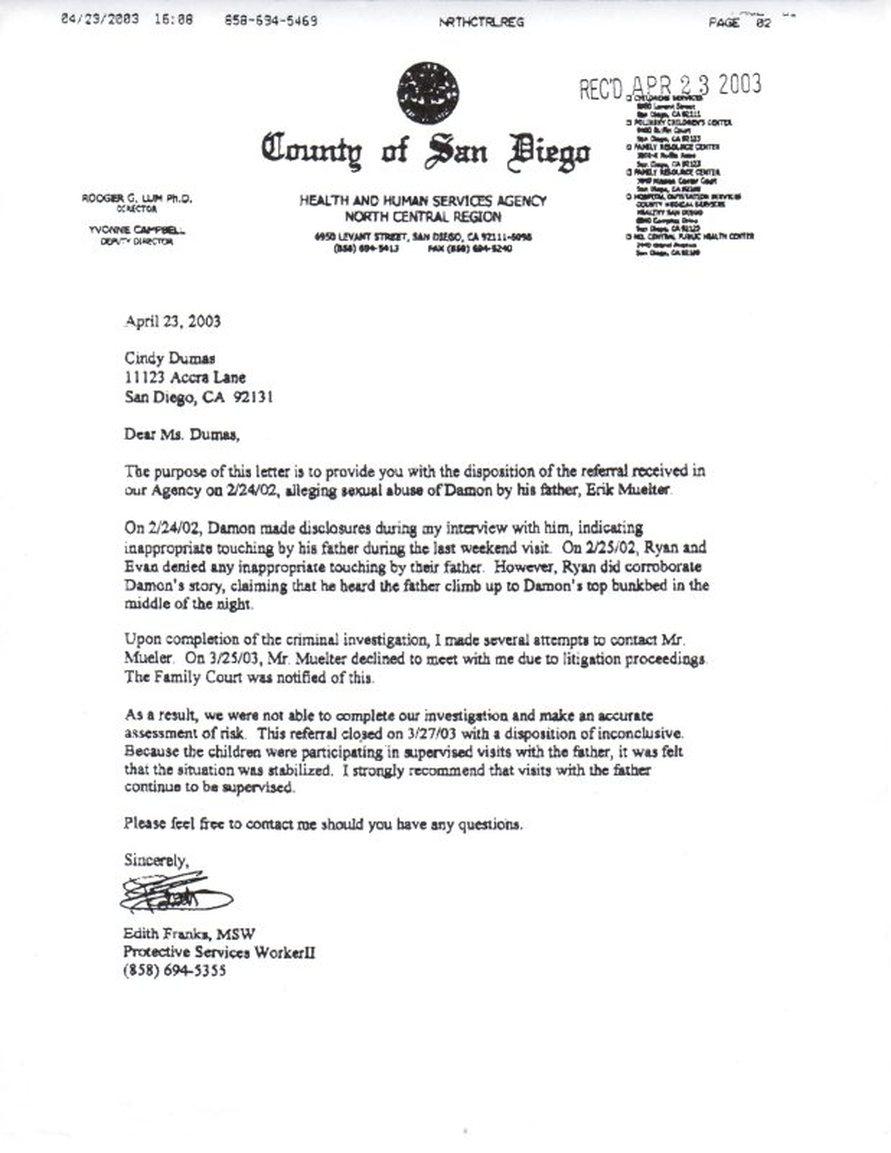 CPS Letter  Saving Damon