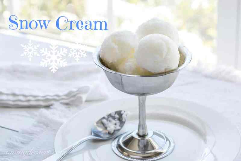 homemade Snow Cream