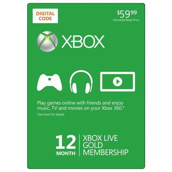 Xbox Live 12 Month Gold Membership Card Deal- Saving