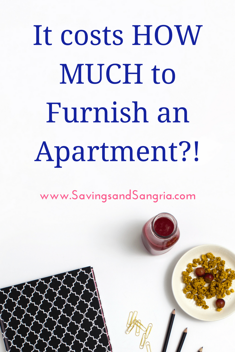 how much does it cost to furnish an apartment from scratch