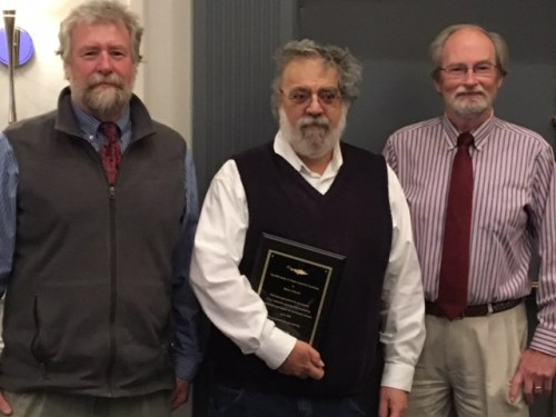 From left: NEFMC Chairman Terry Stockwell, Correia, and Dr, David Pierce, Director, Massachusetts Division of Marine Fisheries