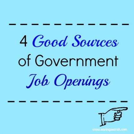 4 Good Sources of Government Job Openings