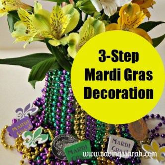 3 Step Mardi Gras Decoration