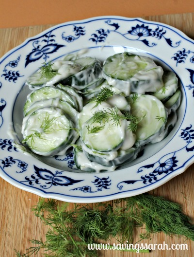 Simple Cucumber Dill Salad
