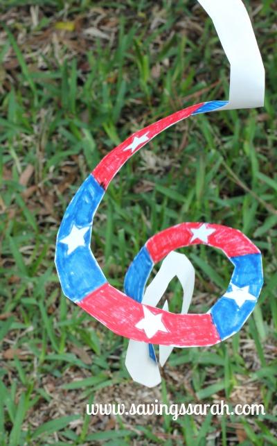 Patriotic Paper Wind Whirler Action