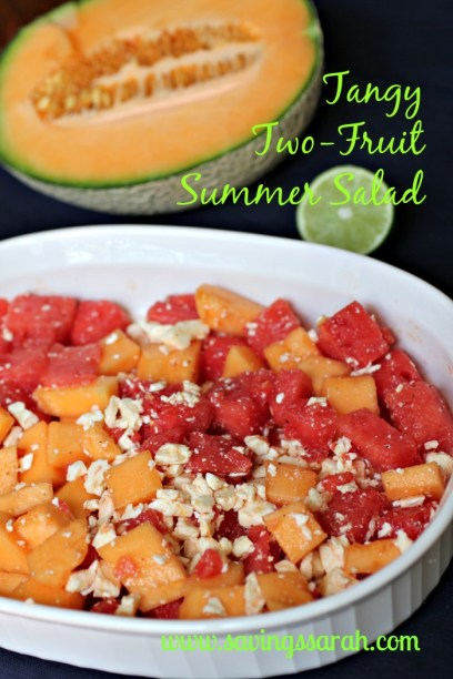 Tangy Two-Fruit Juicy Summer Salad