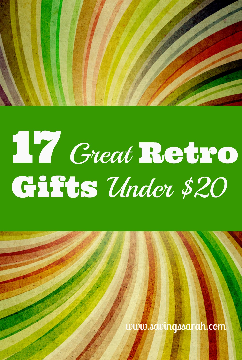 17 Neat Retro Gifts Under $20 - Earning and Saving with Sarah