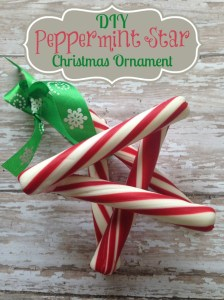 DIY Peppermint Star Christmas Ornament