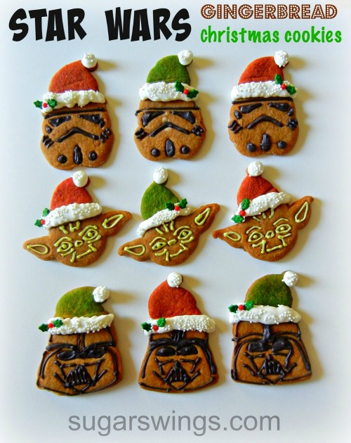 Star Wars Gingerbread Christmast Cookies Sugar Swings Site