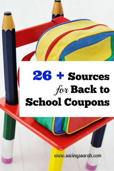 26 Plus Sources for Awesome Back to School Coupons