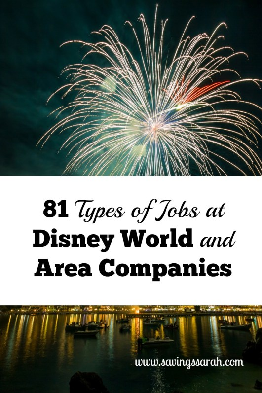 81 Types of Jobs Disney World and Area Companies