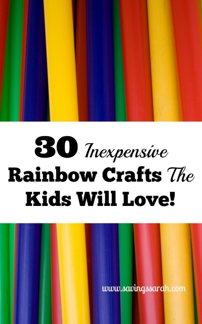30 Easy, Inexpensive Rainbow Crafts The Kids Will Love