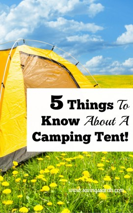 5 Things To Know About A Camping Tent