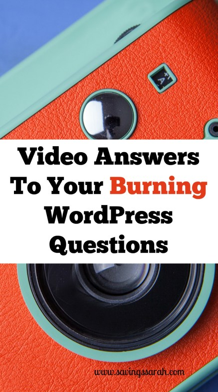 Video Answers To Your Burning WordPress Questions