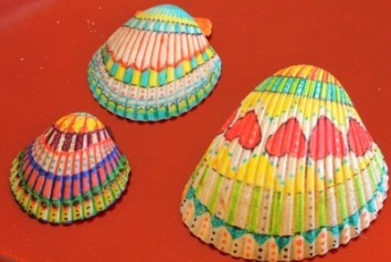Heart and Colorful Shells