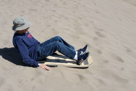 Sand Sledding At Great Sand Dunes