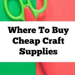 Where To Buy Cheap Craft Supplies