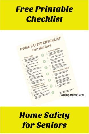 Free Printable Home Safety Checklist For Seniors