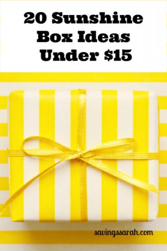 20 Sunshine Box Ideas Under $15