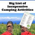 Big List of Inexpensive Camping Activities