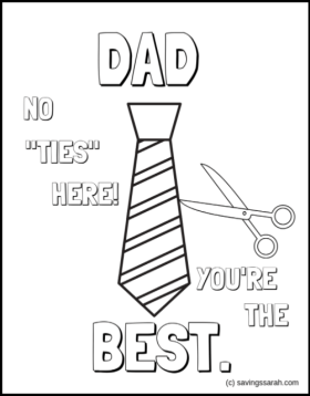 Father's Day Coloring Pages No Ties Here