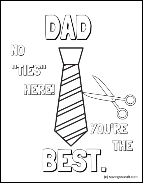 Fun Father S Day Coloring Pages Earning And Saving With Sarah