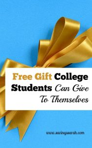 Free Gift College Students Can Give To Themselves
