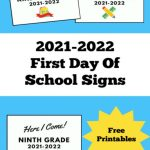 First Day of School Signs 2021 2022