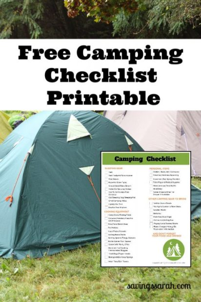Your Free Camping Checklist Printable