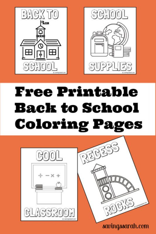 Four Fun Back To School Coloring Pages - Earning And Saving With Sarah