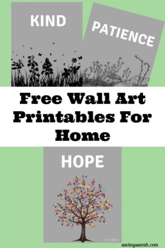 3 Free Wall Art Printables For Home