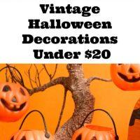 Vintage Halloween Decorations Under $20
