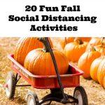 20 Fun Fall Social Distancing Activities
