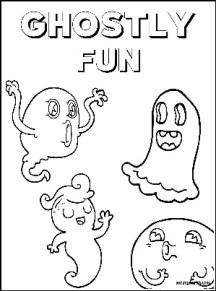 Halloween Coloring Sheet Ghostly Fun