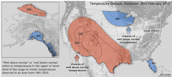 NOAA Winter Forecast 2012-2013