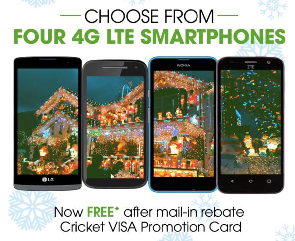 Cricket Wireless: Free No-Contract Smartphones (+ $100