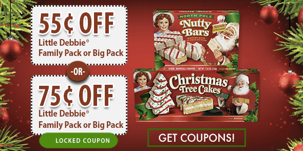 New 0 75 1 Little Debbie Snacks Coupon Christmas Tree Cakes Only